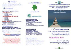 Locandina Congresso Endourologia Varese